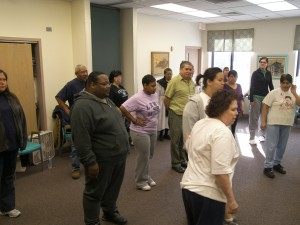 Salsacize Dancing - On Friday mornings, you can hear the beat of Salsacize as patients dance along with Lewis University instructors