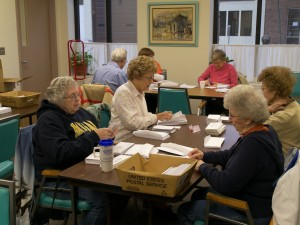 Our friends at Grace United Methodist Church in Joliet assemble all Clinic mailings